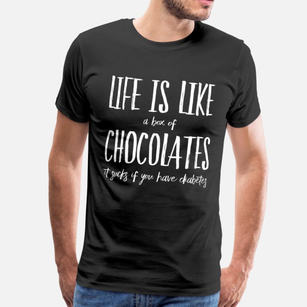 Diabetes-T-Shirt Männer Customized Short Sleeve Größe S-3XL Standard-Fitness Bequeme Sommer Outfit Hemd