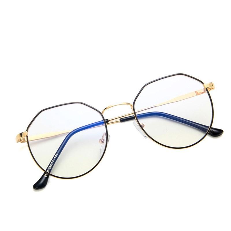 Старинные квадратные металлические очки Eyeglasses Light Classic Frame Оптические Отечки Женщины Глаз Мода Компьютер Anti-Blue Myopia HGQXT