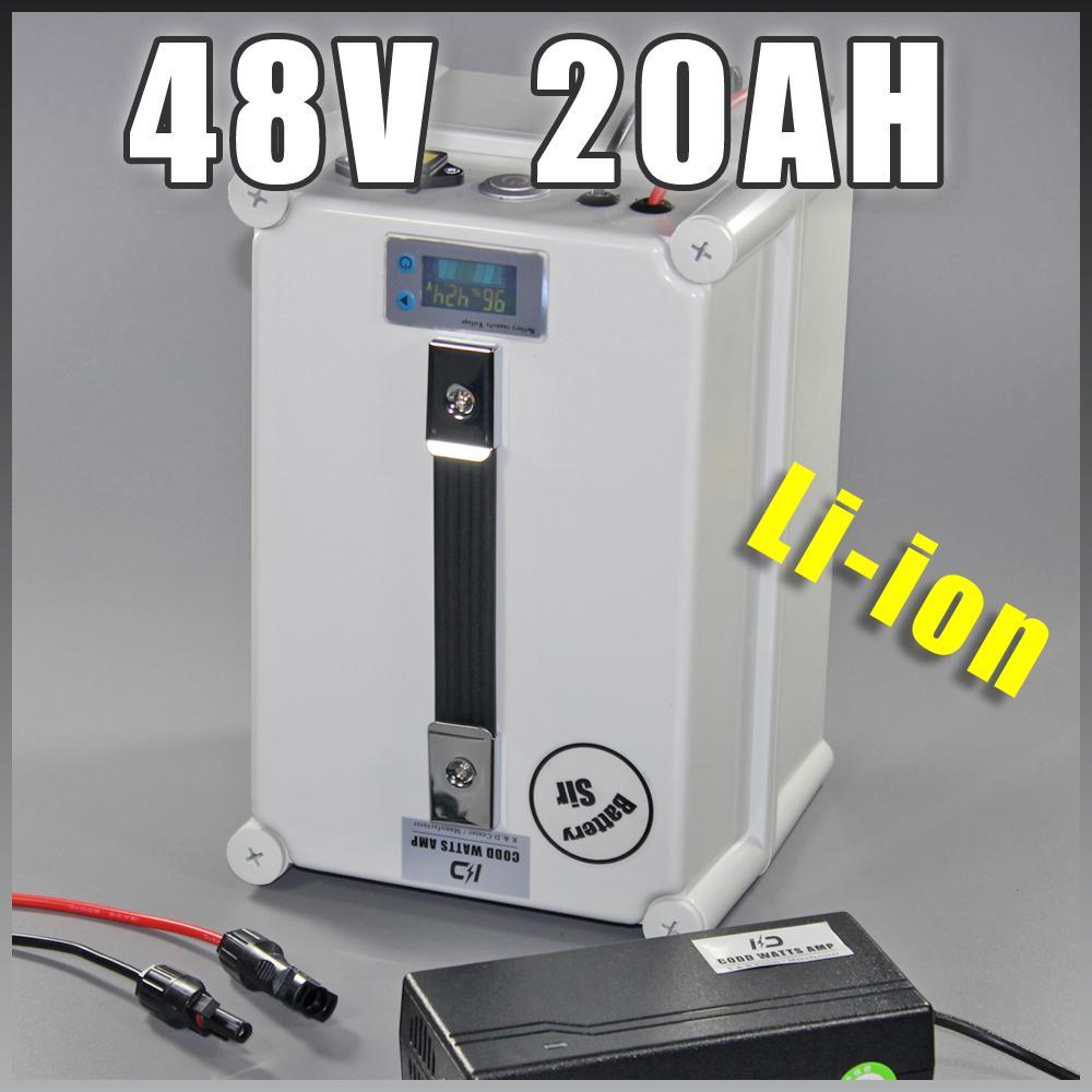 US UE No Tax nuovo ione portatile Caso 48V 1000W bici elettrica della batteria al litio 20Ah con Fast Plug impermeabile caricatore