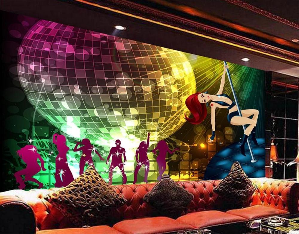 3d wallpapers Fantasy ballroom colorful bar KTV nightclub background wall 3d murals wallpaper for living room