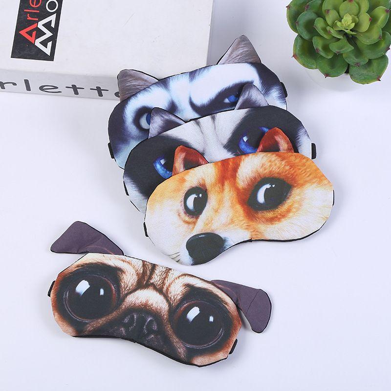 جديد محمول 3D لطيف القط الكلب اييشادي الغلاف الطبيعية النوم قناع العين الظل السفر الاسترخاء Eyepatch