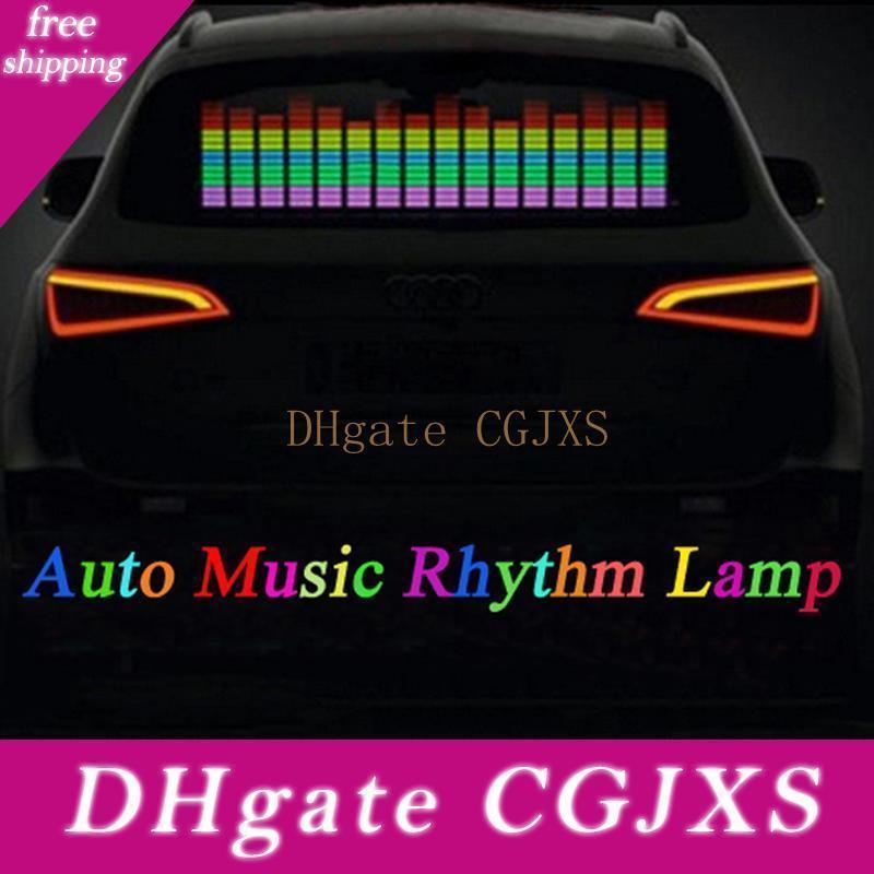 자동차 스티커 음악 리듬 LED 플래시 라이트 램프 사운드 활성화 이퀄라이저 자동차 분위기 Led 빛 무료 배송