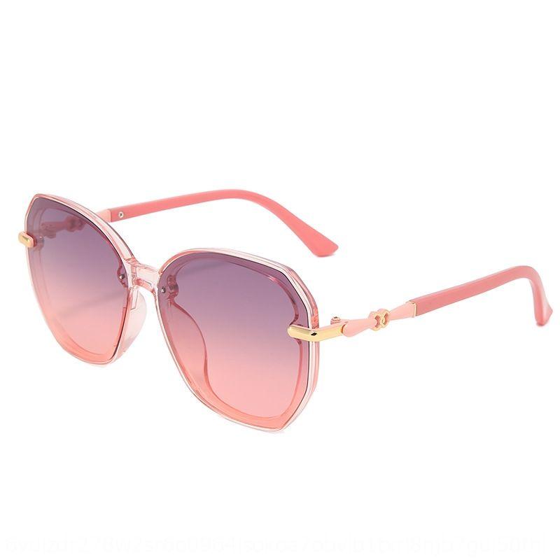 Ins Brown polarisierte Frauen der Sonne Sonnenbrille Art und Weise 2020 neue Internet-Berühmtheit großer Rahmen Sonne UV-Schutzbrille Abnehmen