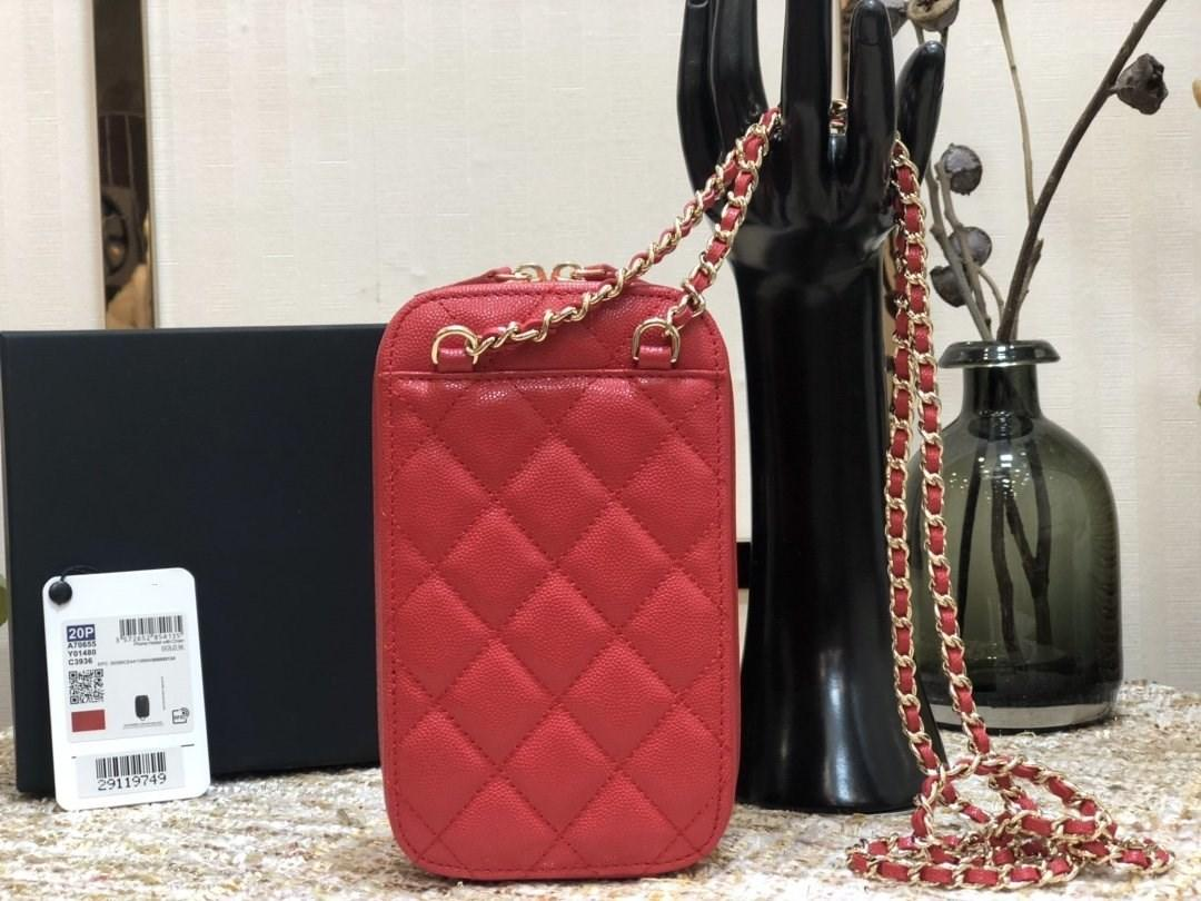 2020 High quality genuine leather multi colors fashion girls handbags mini chain purse wallet cross body bags phone case cell phone pocket