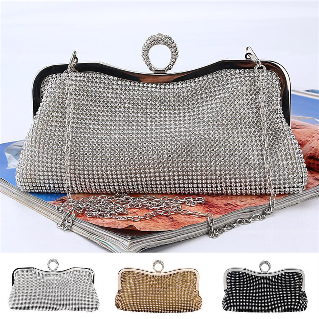 Women Evening Clutch Bag Women Bags Wedding Shiny Handbags Bridal Metal Bow Clutches Bag Shoulder Bag Bolsa Feminina 38