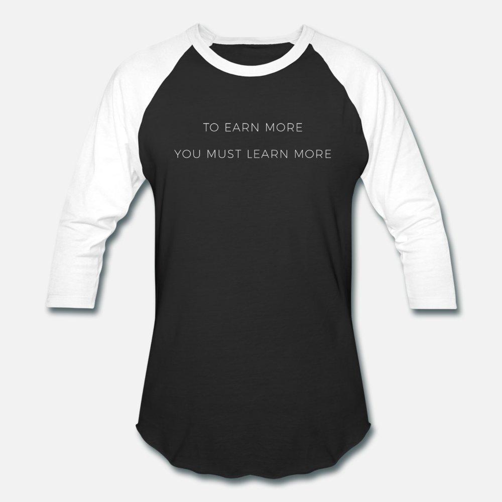 Apprendre à gagner Entrepreneur Hustle Motiver T-shirt des hommes design 100% coton Taille S-3XL standard Mignon Respirant été Style de loisirs t-shirt