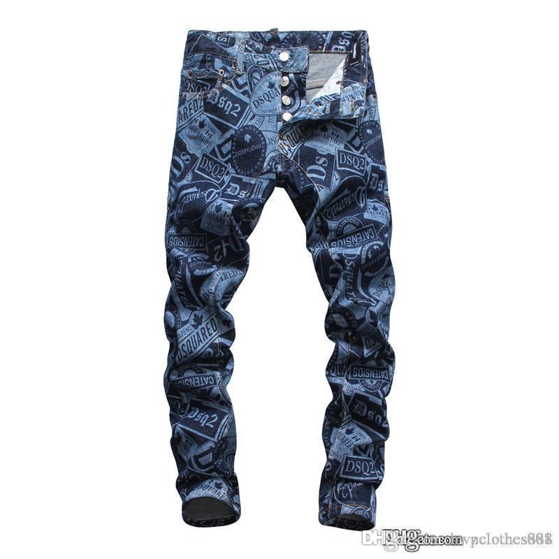 2020 uomini Top S pantaloni dal design di lusso di lusso jeans del progettista di marca Men Fashion Street mens abbigliamento di grandi firme di jeans pour hommes
