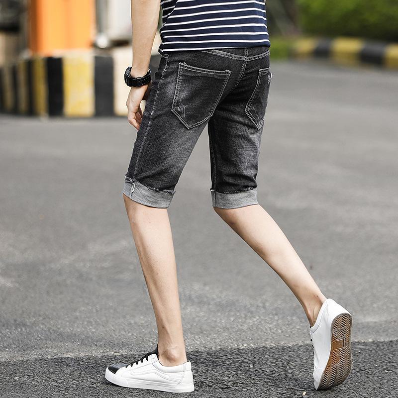 2020 Verão Mens Denim Shorts Bermudas Masculina De Marca Curto Ripped Jeans Men Streetwear marca vestuário