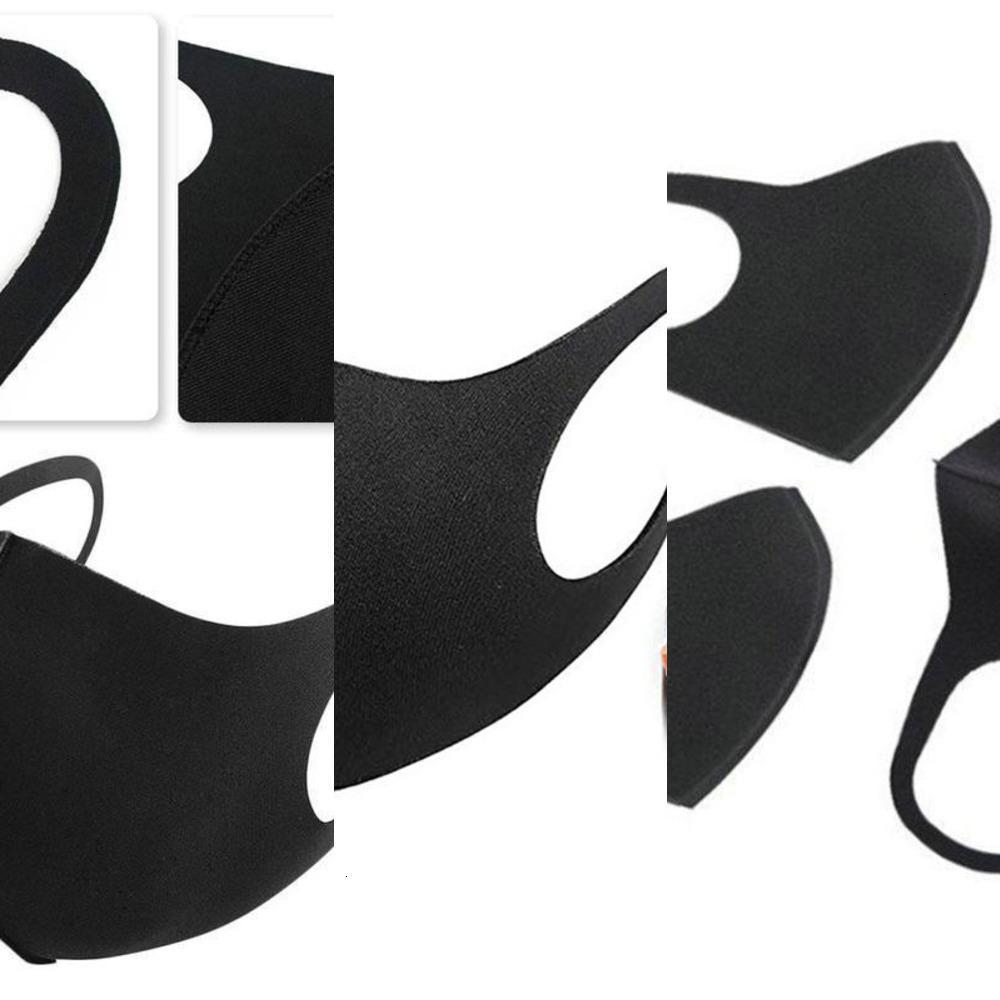 Lavabile Viso Anti cotone riutilizzabile Polvere Maschera Maschera Nero Grigio Bianco Moda protezione Mout I4GB RIQY