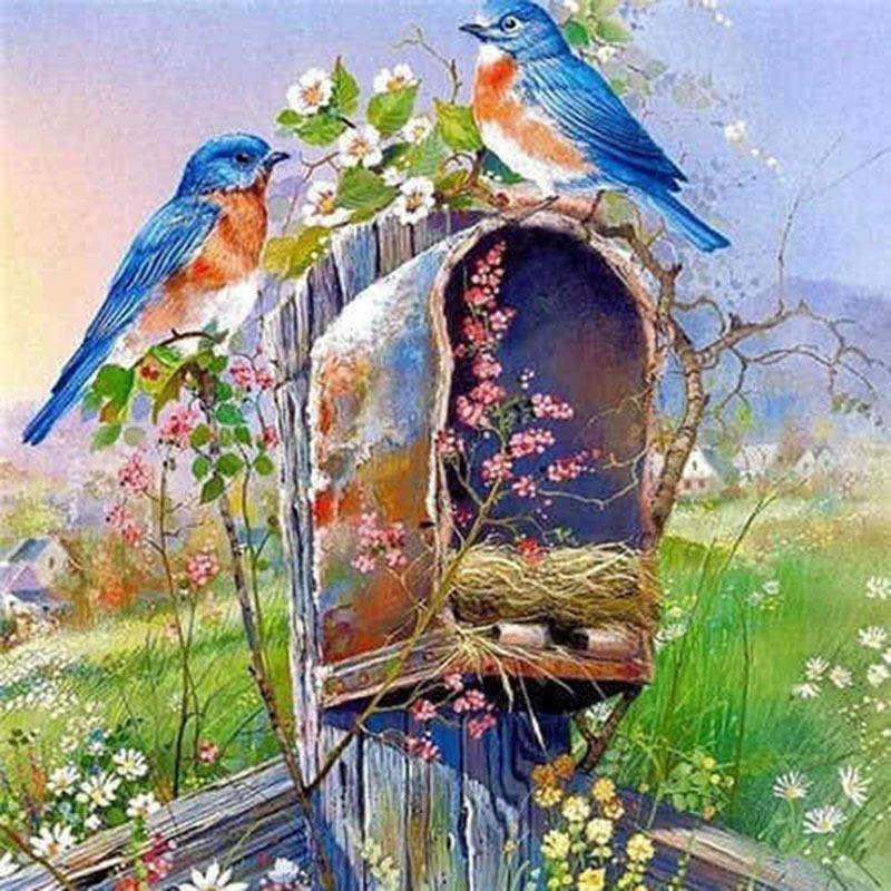 DIY птица 5D Алмазная Картины Скотных Полная Круглая Мозаика Алмазной Вышивка Цветы Вышивка крест Rhinestone Детской комната Декор
