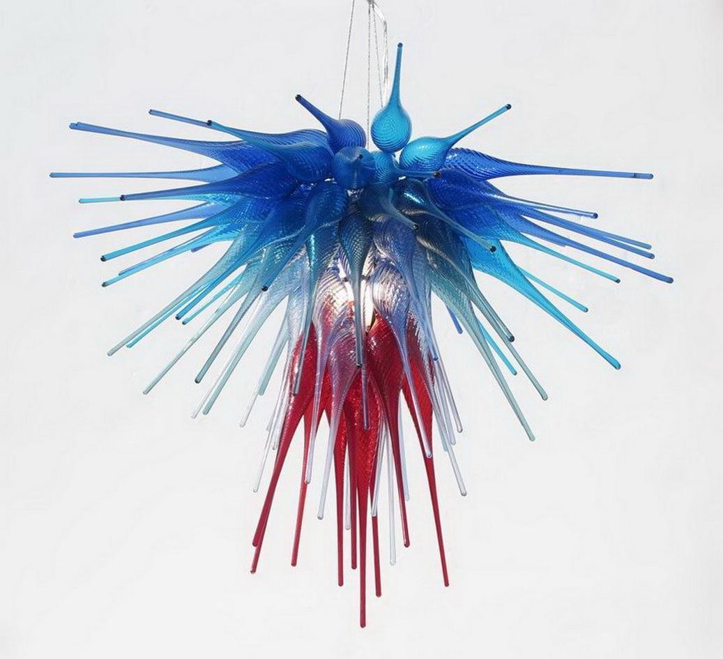 100% soufflé bouche borosilicate en verre de Murano Décor de mariage de luxe Art Chihuly style moderne Lustres en cristal Pendentif Lampes