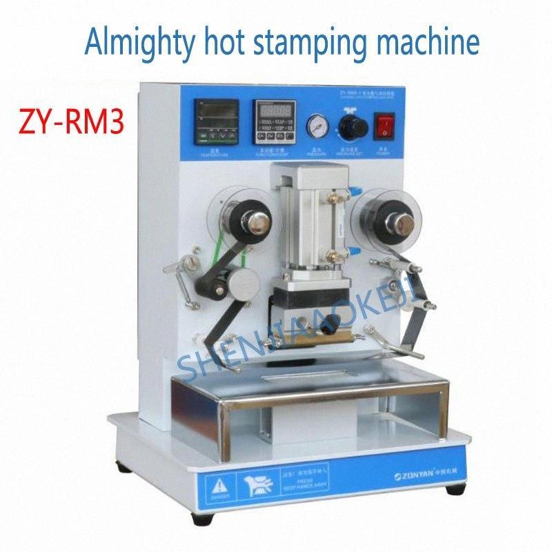 1PC ZY-RM3 Sıcak Bronzlaştırıcı Makine Yüce Sıcak Baskı Makinesi 220V / 110V Damgalama Kelime Değişim İçerik kxqz #