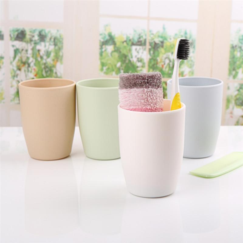 Diente de leche irrompible agua para la bebida taza de jugo 201 Resistente baño tazas plásticas del té 300ml Receso FcyXc gardens2010