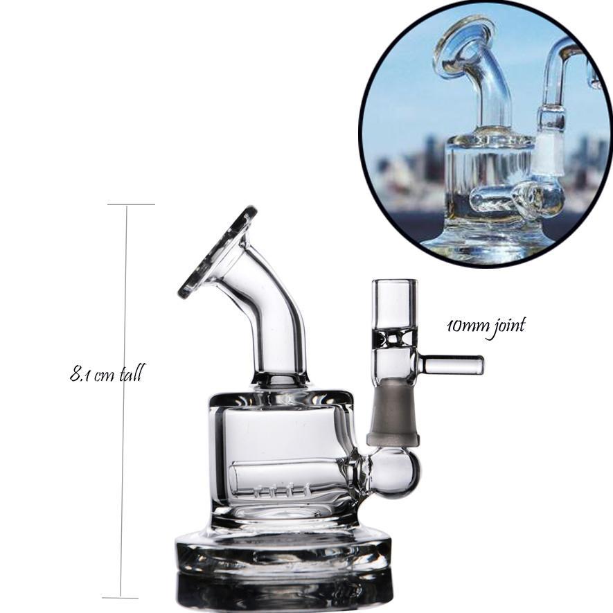 두꺼운 유리 물 기억 만 유리 오일 버너 파이프 담뱃대 물 담배 리사이클 봉 10mm로 버블 작은 소형 봉 석유 굴착