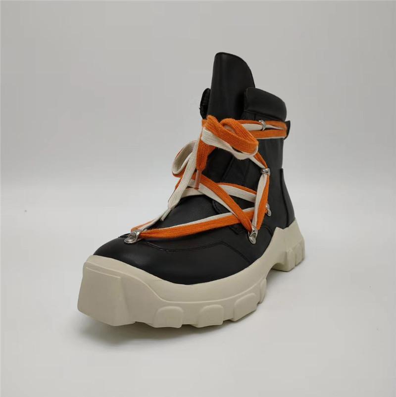 حار جديد جلد مارتن الأحذية أحذية الرجال أحذية الكاحل التمهيد الفاخرة مصمم الأزياء والأحذية أحذية عالية أعلى سميكة قيعان الحذاء