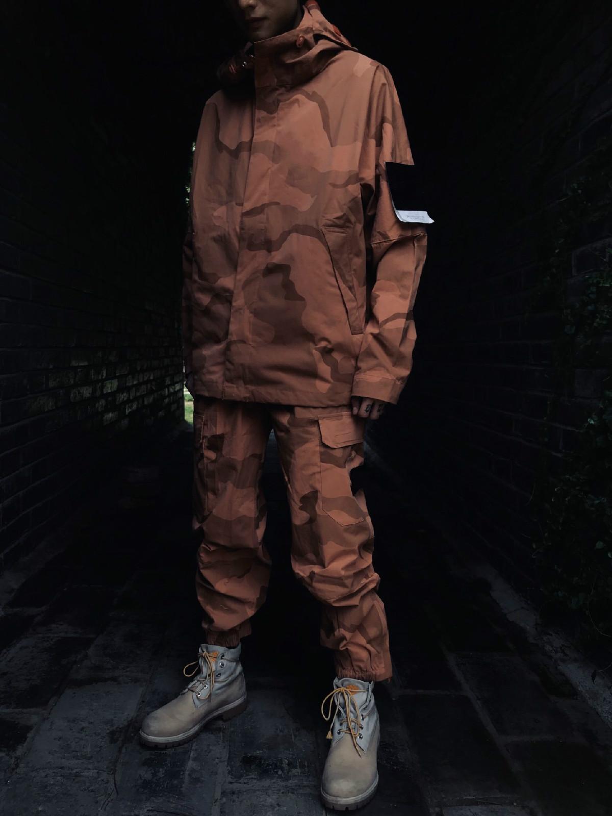 2020 Hanfei001 Mens Felpa con cappuccio Fashion New Brand Giacche Camouflage Color Design importato Top Ricamo Dettagli Braccio perfetto ARM OEM Spring Coat