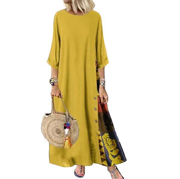 Basılı olan kadınlar Casual Uzun Kollu Yaz Sonbahar Kasetli Elbiseler Günlük Elbiseler Kalite Bayan Elbise Giyim Boyut M-5XL Tops