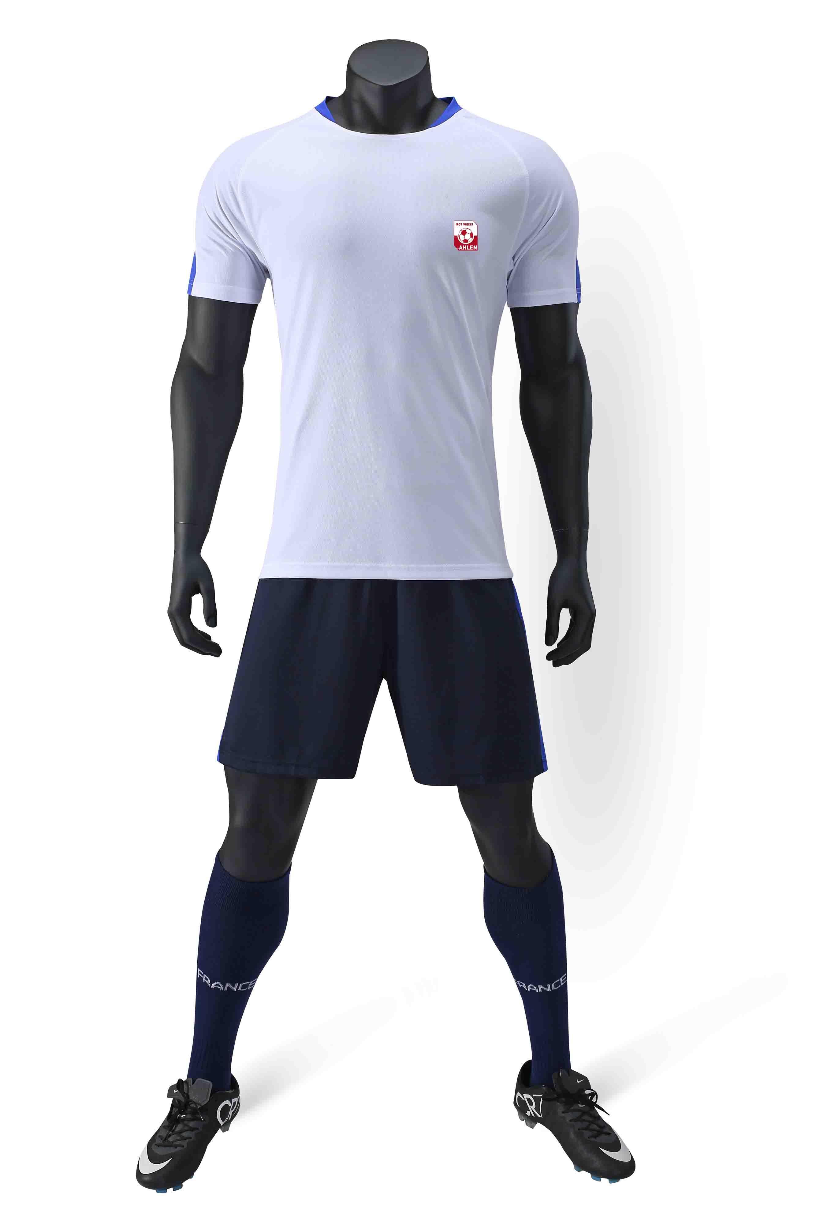 Rot-Weiß Ahlen e.V 100% полиэстер спорта новый шаблон случайные футболки футбол костюм обучение модные мужские футбольные костюмы