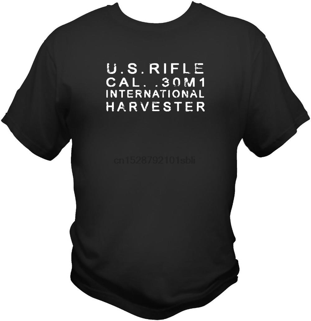 International Harvester Stamp M1 Garand Gewehr-T-Shirt Korea-Krieg handgemachte 2019 neue beiläufige Männer kurze Hülsen-Silk Schirm-T-Shirts