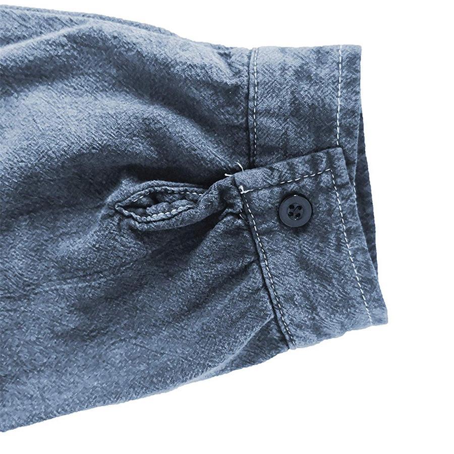 Top con scollo a V casuale delle magliette progettista del Mens magliette di modo manica lunga colore puro # 756