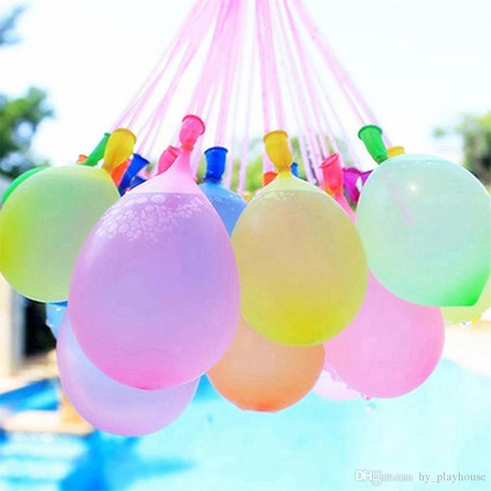 Partido Colorido Color Colorido Juego Llenado Agua Niños Playa para Play Kid Pequeño Agua Bombillas Bolas de tiro Globo Al Aire Libre Juguetes Verano 05 Eluhe