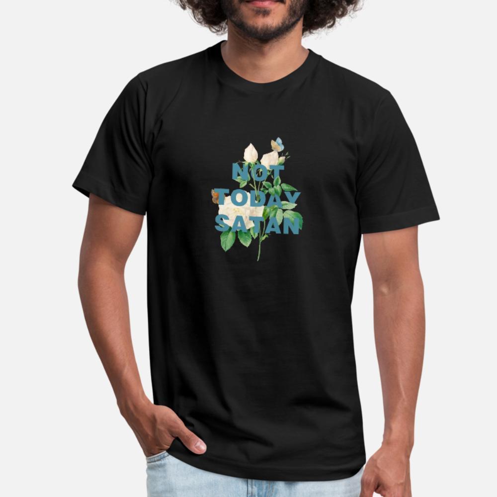 Não Hoje Satan T Shirt camisa dos homens design manga curta S-Xxxl de base sólida de Fitness engraçado Vintage Primavera