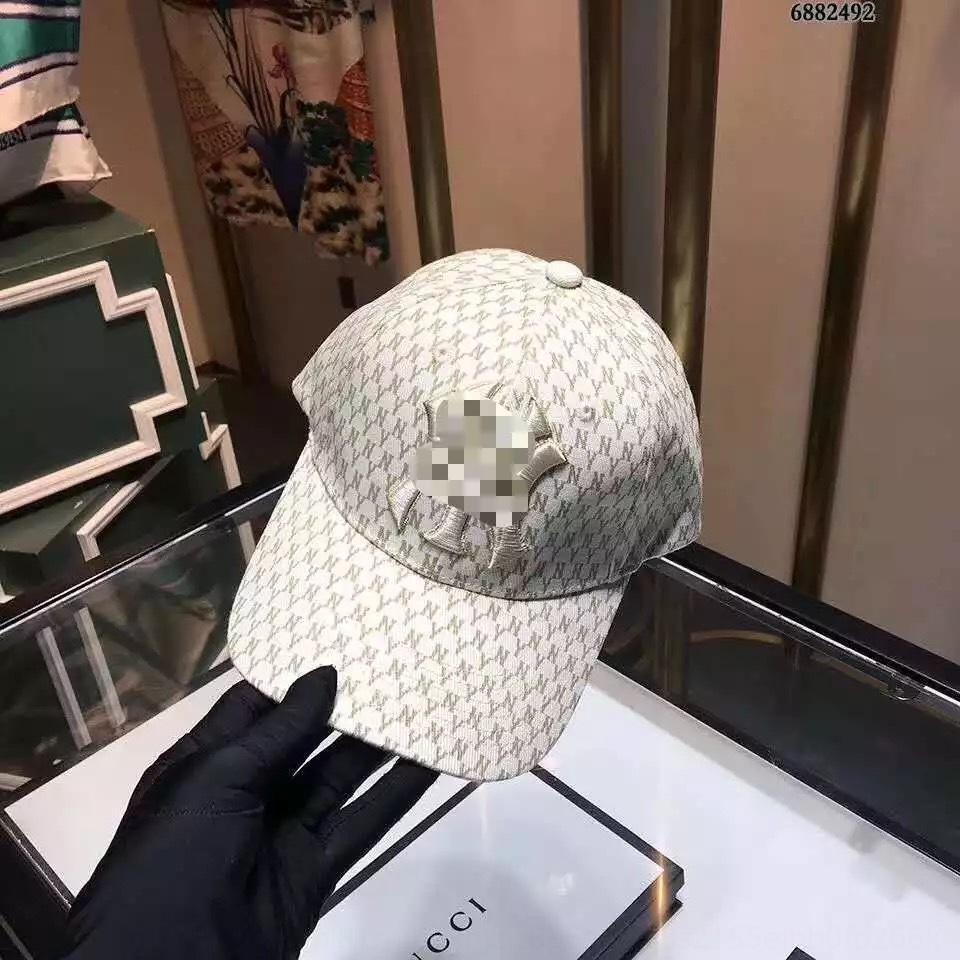 2020 alta nueva tapa de la versión coreana de béisbol versión impresa completa NY gorra de béisbol personalizada del sombrero del sol de las mujeres de la moda y los hombres de moda