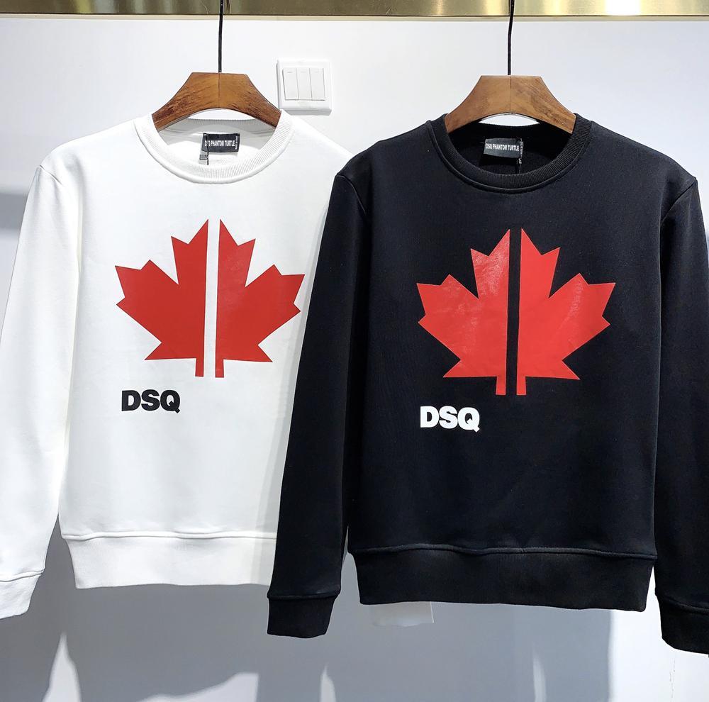 DSQ Phantom Turtle Hoody New Herren Designer Hoodies Italien Mode Sweatshirts Herbstdruck DSQ Hoodie Männliche Top Qualität 100% Baumwolle Tops 2370