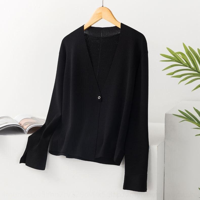 I9tjJ simple maille élégante printemps nouveau cardigan centre maille manteau navettage polyvalent shopping et même manteau