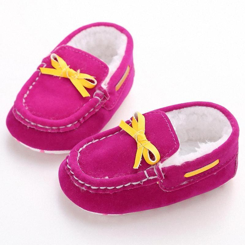 Nuovo modo 8 colori baby graziosi bambini Autunno Inverno inferiore molle del bambino scarpe anti Slipping Passeggiata Sneaker Boots primo camminatore dt6O #