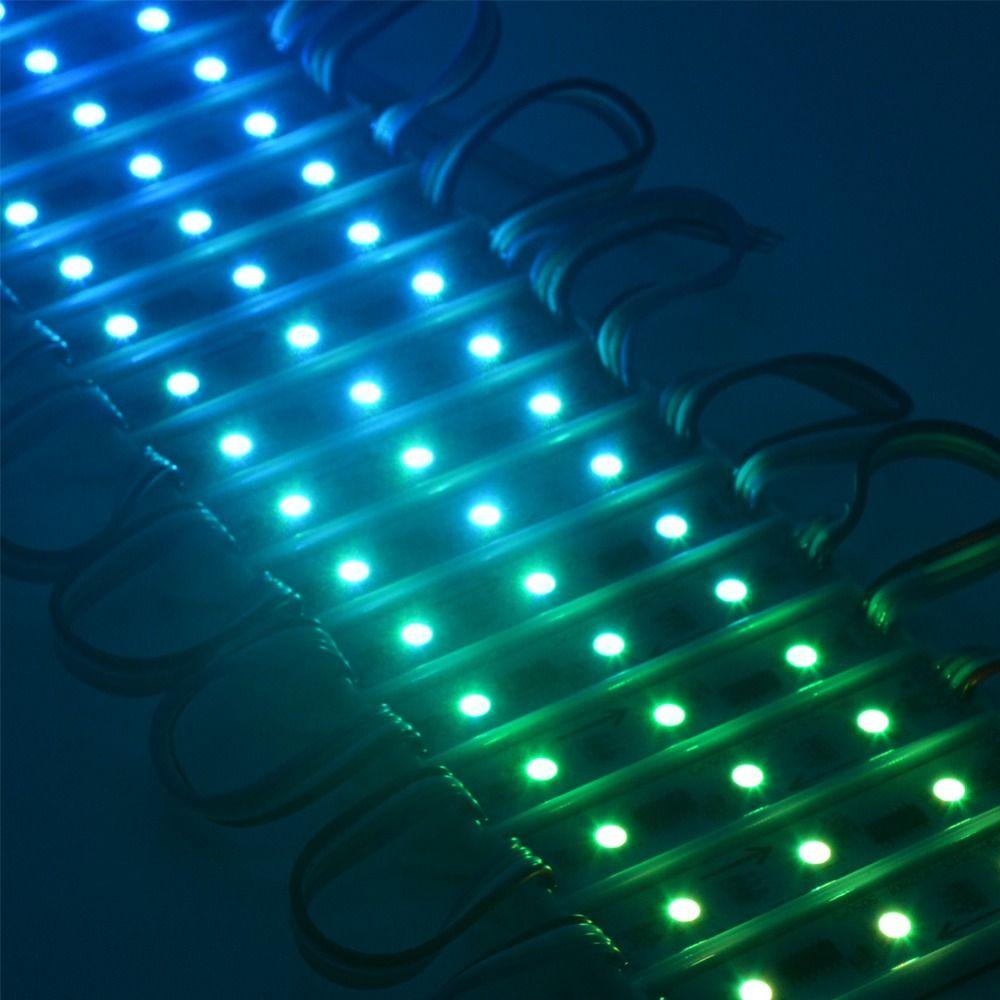 IC LED الرقمية وحدة الضوء WS2801 DMX 3LED DC12V LED حديقة ضوء SMD5050 RGB LED للماء بكسل الرقمية وحدة ضوء سلسلة