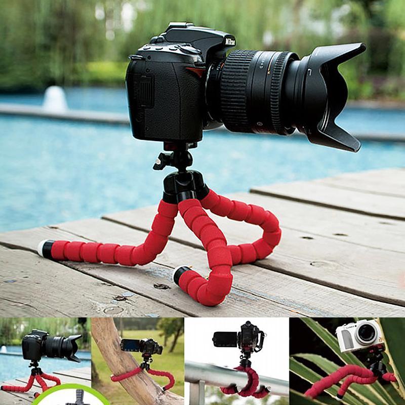 Mini Krake-Stativ für Telefon Stativ Einbeinstativ selfie Stick für Kamera-Stativ Clip Ständer für Handyhalter bluetooth Stative