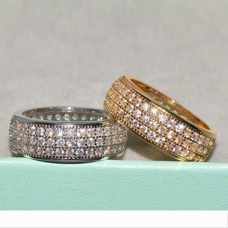 Designer Choucong luxe Bijoux 925 SilverGold Fill Pave blanc Sapphire CZ diamant Parti populaire Femmes mariage nuptiaux Pour L