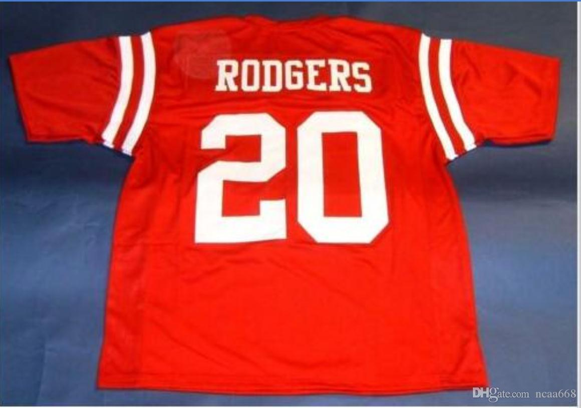 Custom Men Youth women Vintage NEBRASKA CORNHUSKERS #20 JOHNNY RODGERS Football Jersey size s-5XL or custom any name or number jersey