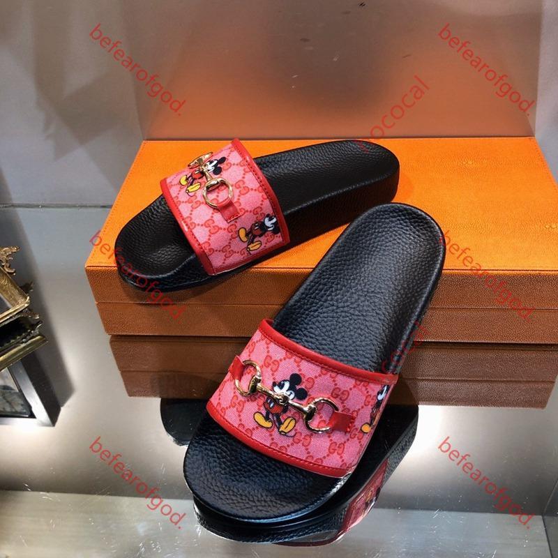 Gucci flip flop mocasines de cuero hasta las zapatillas de herradura hebilla de las mujeres señoras forma Princetown piel informal Mulzi zapatos planos de la nueva nave libre de