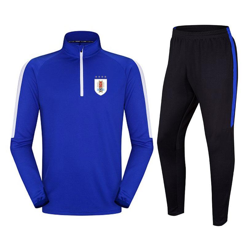 Uruguay 2020 yeni ceket futbol antrenman takım elbise uzun bölüm giyim eşofmanını çalışan DIY erkek spor özelleştirilebilir
