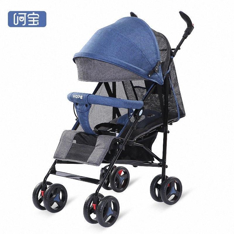 Alta passeggino visione può spingere carrelli dei bambini, allo stesso tempo, e può sedersi sul bambino pieghevole passeggino 3-in-1 pKNh #