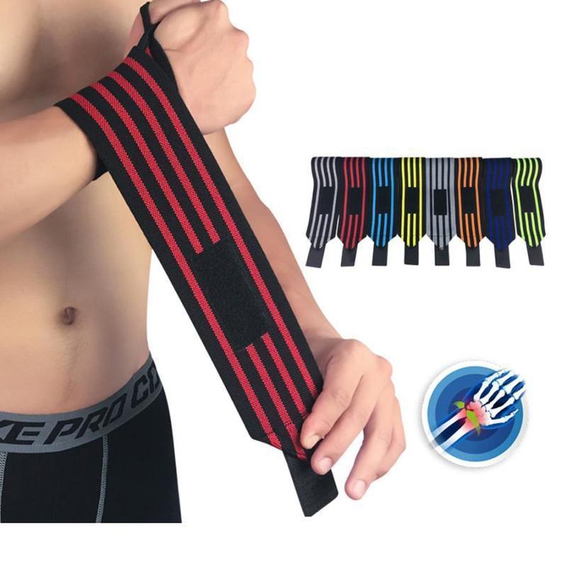 FishSunDay Elastic Sport Bandage Wristband hand Gym Support wrist brace Wrap Tennis Cotton Weat band Fitness Powerlifting 0723