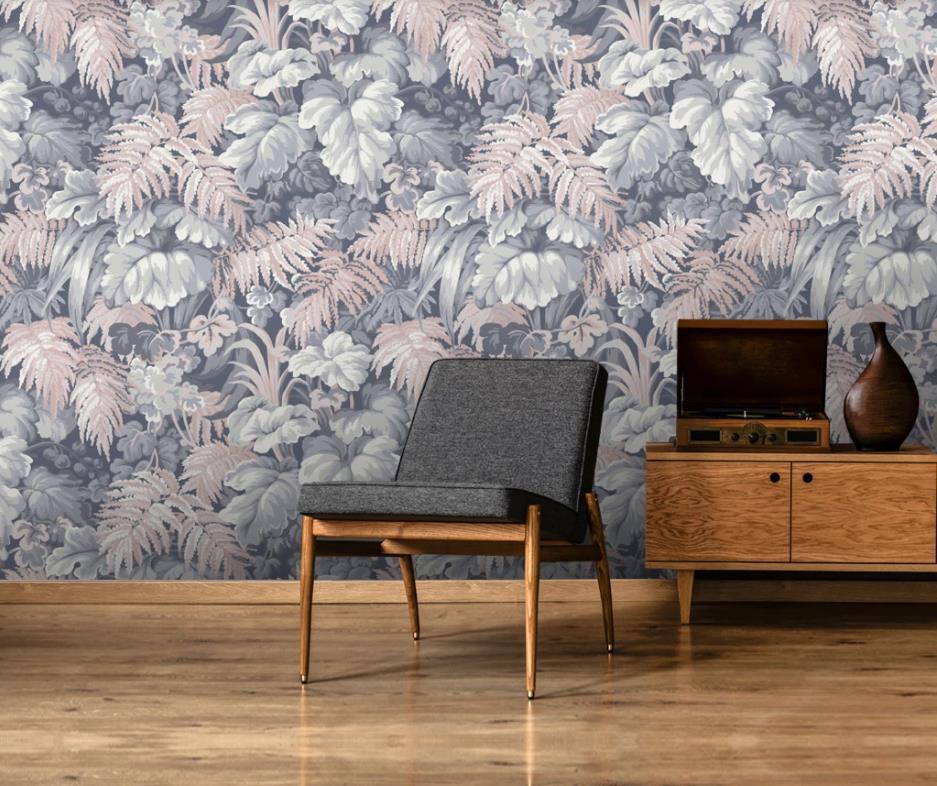 подгоняет Современные обои для гостиной спальни листьев растений ТВ фона стены украшения фрески обои 3d
