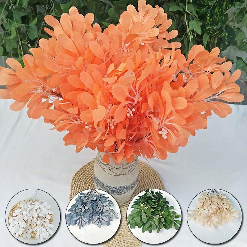 5 Fork Peanut Green Jujube Leaves Simulation Silk Plant Home Desktop Decoration 54cm Artificial Plant DIY Wedding Decor