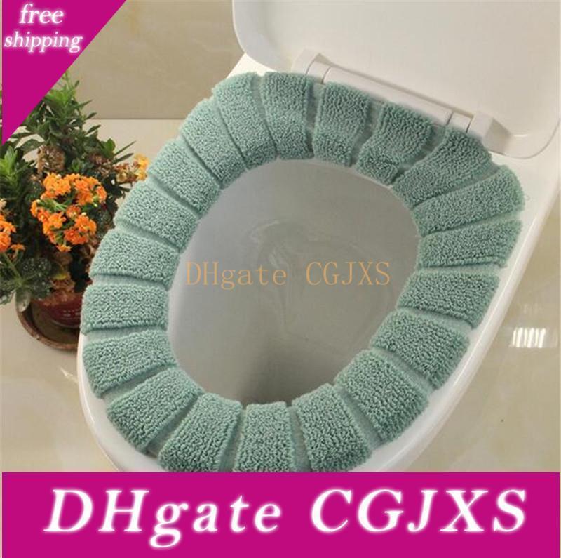Rahat Kadife Mercan Banyo Klozet Kapak Yıkanabilir Closestool Standart Kabak Desen Yumuşak Yastık Banyosu Bahçe