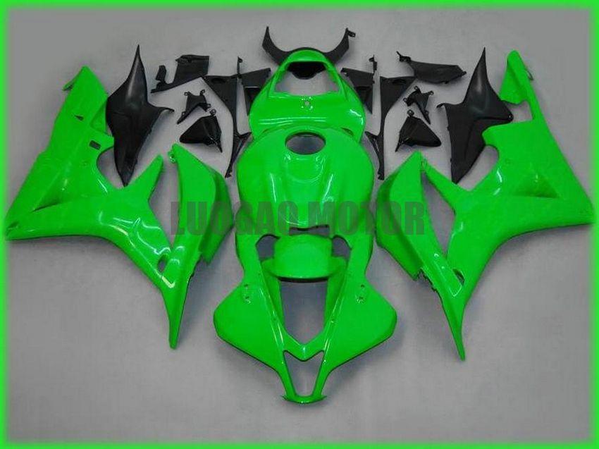 Iniezione carenature Kit + regali per HONDA CBR600RR F5 2007 2008 CBR600RR F5 07 08 copertura del corpo + parabrezza #green # 9DK31