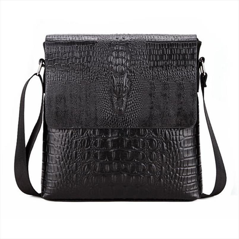 Borse a tracolla nuovo modo del hotsale Mens coccodrillo modello Flap For Men Messenger Bag Affari Crossbody Bag Crocodile bolsa