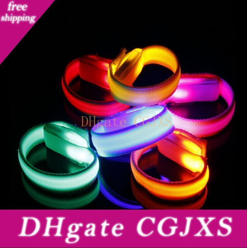 Led Bracelets Flashing Wristband Glowing Bicycle Running Gear For Event Party Concerts Bars Decoration Lx3531