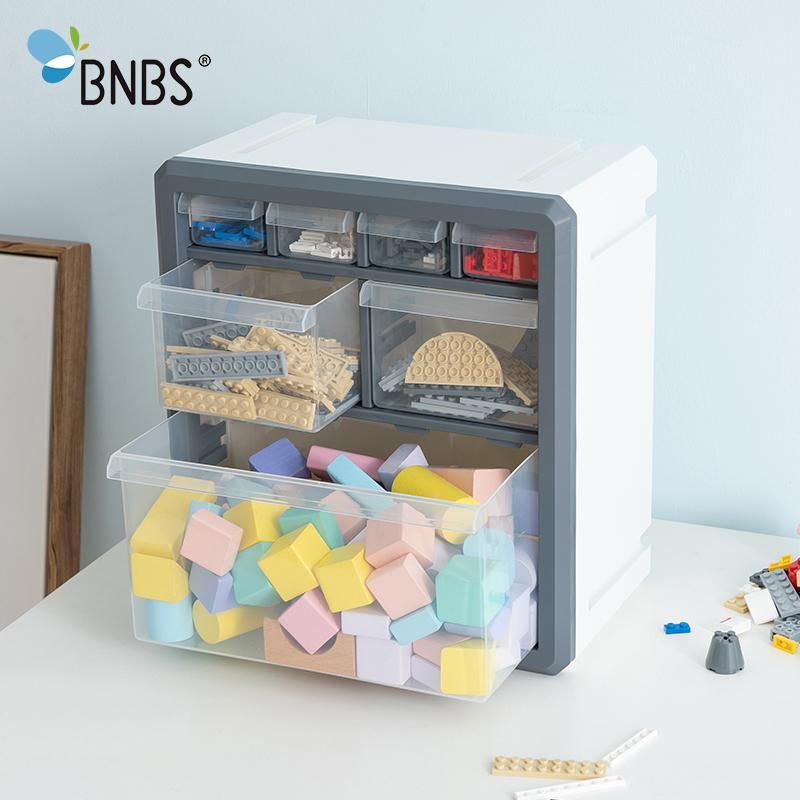 Bnbs juguete Organizador Caja de almacenamiento para los juguetes de los bloques de Lego Accesorios gaveta de envase de plástico de acabado Toy Box cuba de almacenamiento LJ200812 pared