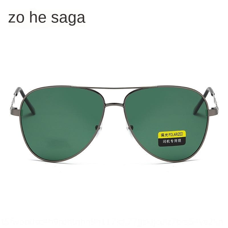 soleil métal polarisé de palourde pour hommes Lunettes de soleil TAC unique faisceau carré à double faisceau lunettes de pare-soleil