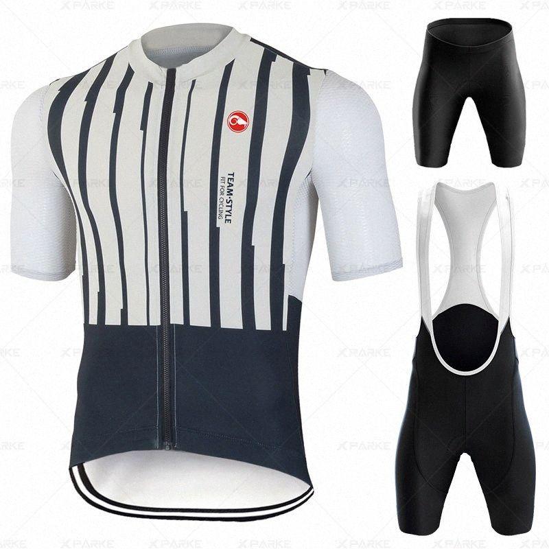 Bisiklet Jersey 2020 Pro Cycling Giyim MTB Önlüğü Şort Erkekler Bisiklet Giyim Jersey Seti Ropa Ciclismo Triatlon Suits Strava UwGR #