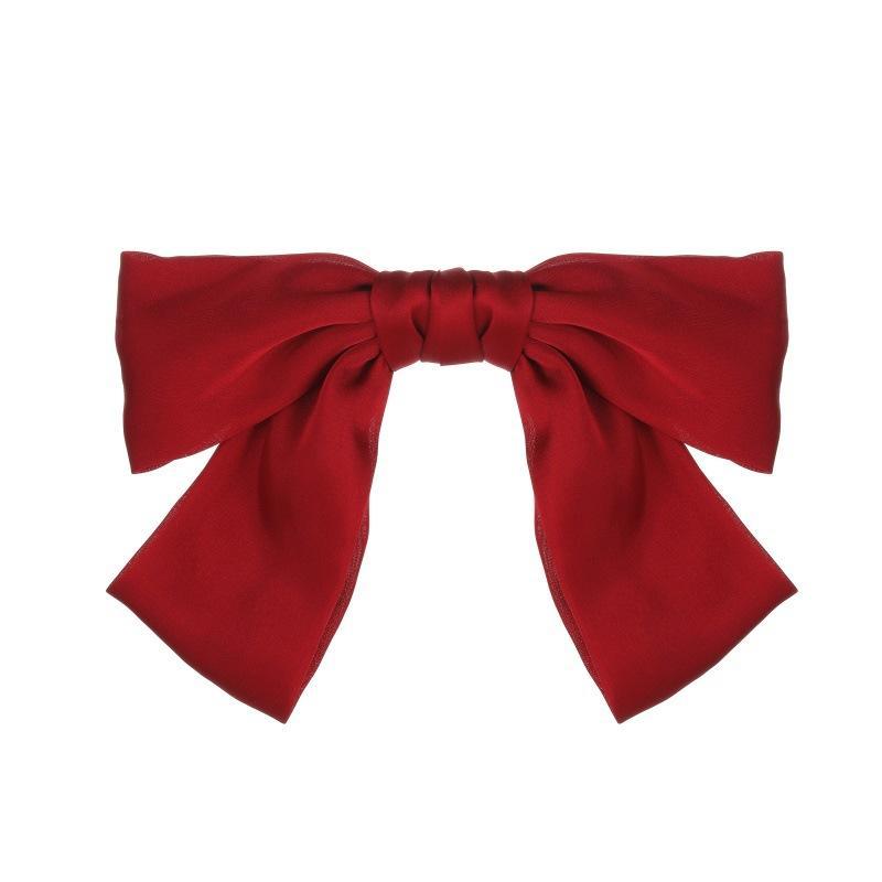 Neue Art und Weise Big Satin Fest-Bogen-Haar-Klipp-Haar-Zusätze für Frauen Mädchen Barrettes INS Style (7 Farben)
