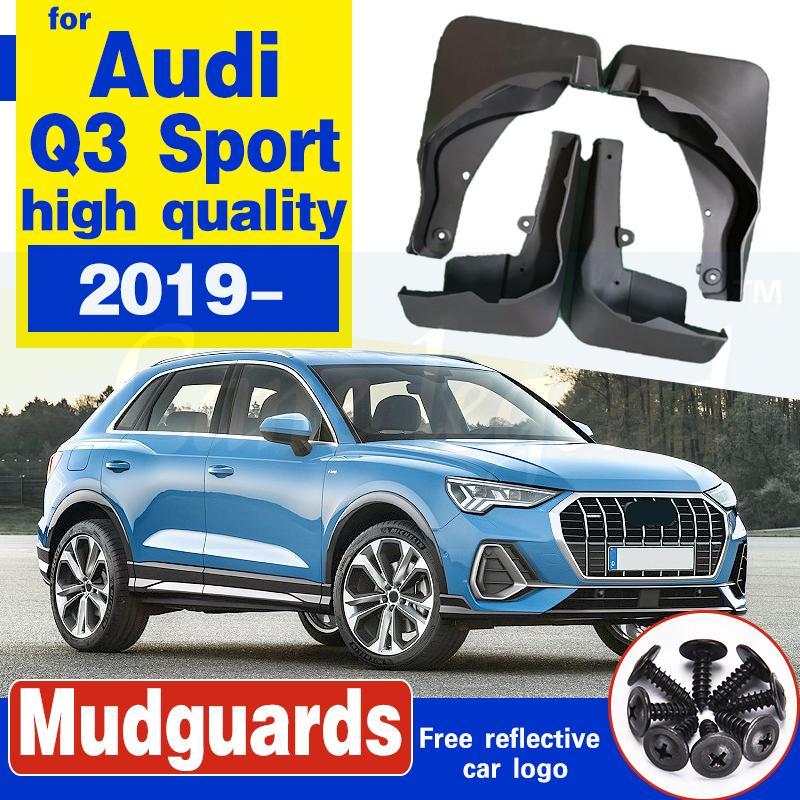 Auto-Schmutzfänger Schmutzfänger Schmutzfänger für Audi Q3 Sport 2019 2020 Spritzschutz Kotflügel Car Vorderrad Hinterrad Weicher Kunststoff-Zubehör