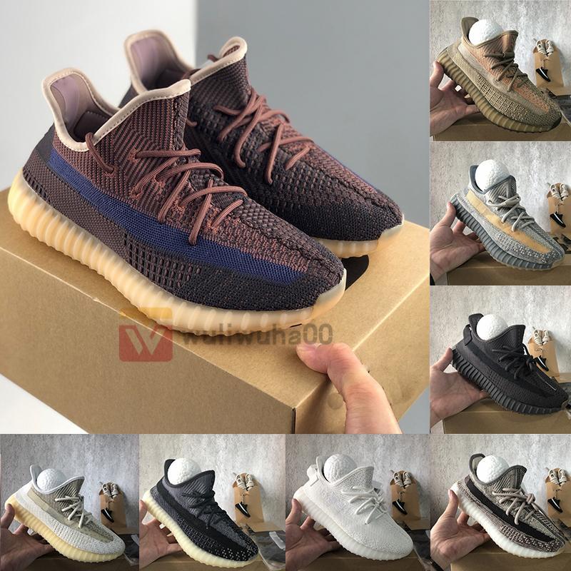 Adidas Yeezy Boost 350 Big Size 13 Kanye West Trainers ABEZ Eliada Yecher Asriel Bred Cinder 3M reflexiva V2 Shoes Correndo linho Yecheil Sapatilhas com caixa Socks